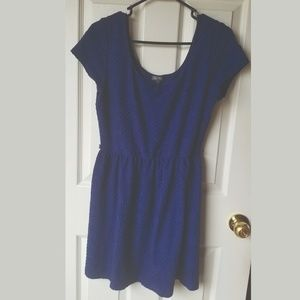 Navy Blue Short Sleeve Knit Lily Rose Dress